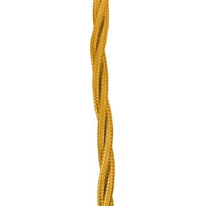 Braided Cloth Triple Twisted Round Flex 0.50mm� Light Gold