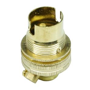 Unswitched Lamp Holder 10mm Brass SBC / B15