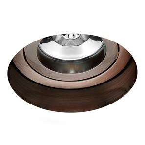 Trimless Round Fire Rated Adjustable 240V Bronze 50W