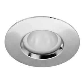 Fixed 35 Frosted Downlighter Bathroom 240V 35W Chrome