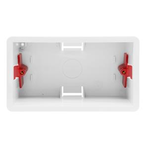 Double Plate Plasterboard Back Box Plastic 46mm