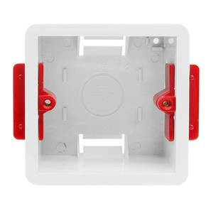 Single Plate Plasterboard Back Box Plastic 46mm