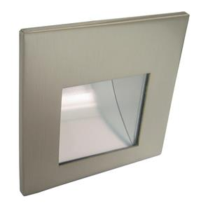 LED Aqua Internal Low Level Wall Light 700mA Satin Nickel 3000K Warm White