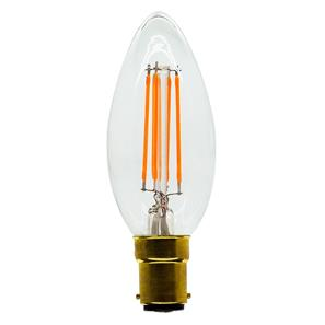 LED Carbon Filament Lamp Candle Squirrel Cage 35mm SBC 4W (=40W)