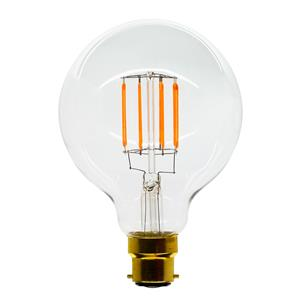 LED Carbon Filament Lamp Squirrel Cage Globe G95 95mm BC 6W (=60W)