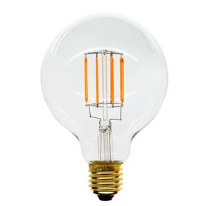 LED Carbon Filament Lamp Squirrel Cage Globe G95 95mm Dimmable ES 6W (=60W)