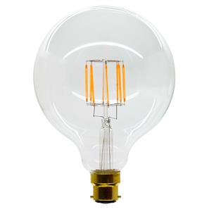 LED Carbon Filament Lamp Squirrel Cage Globe G125 125mm BC 8W (=80W)