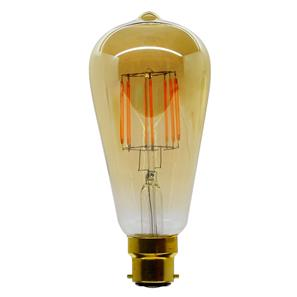 LED Carbon Filament Lamp Squirrel Cage 64mm BC 6W (=60W)