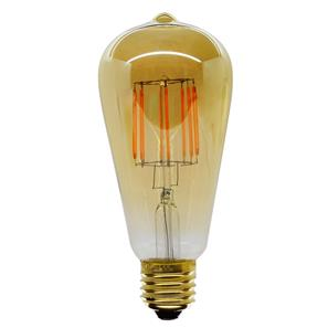 LED Carbon Filament Lamp Squirrel Cage 64mm 2200K ES 6W (=60W)