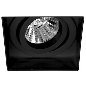 Trimless Square Fire Rated Adjustable 12V Black 50W
