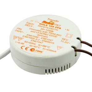 Round 105  Electronic Dimmable Transformer 12V 120W