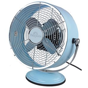 Retro Desk Fan Blue Aluminium