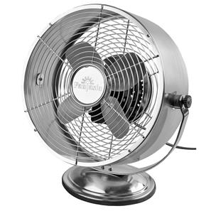 Retro Desk Fan Brushed Nickel Aluminium