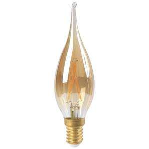 LED Amber Candle Lamp E14 GS4 2W 2700K Warm White
