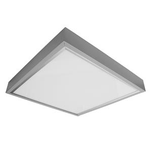 LED Surfaced Panel Light Box Silver Kit 24V 600 x 600mm 3000K Warm White 34W