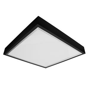 LED Surfaced Panel Light Box Black Kit 24V 600 x 600mm 3000K Warm White 34W