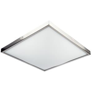 Slim Square ES 240V Nickel 2 x 60W
