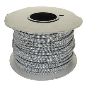 Braided Cloth Round Flex 3 Core Cable 100M 0.75mm² Black White