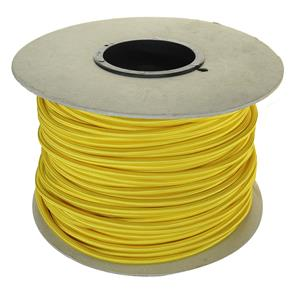 Braided Cloth Round Flex 3 Core Cable 100M 0.75mm² Yellow