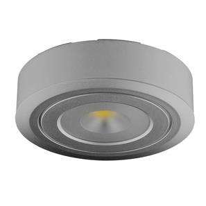 LED Diva 2 Spot Surfaced Mounted 3000K Warm White 60° 24V 4W Silver