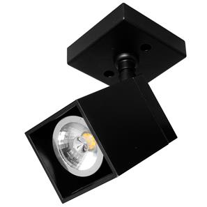 Black Short Cube Spotlight  35W Black