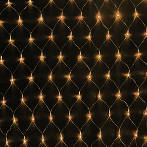 Giant Sparkle Net, 480 Lights, Indoor, 240V  3000K Warm White Black Cable