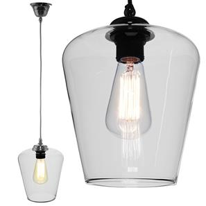 Sorento Glass Pendant  60W Clear / Chrome