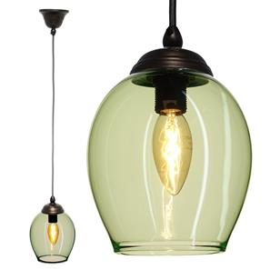 Polla Glass Pendant  40W Ice Green / Antique Bronze