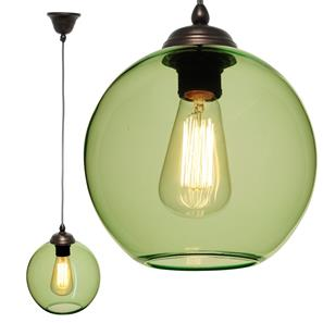Modica Glass Pendant  60W Ice Green / Antique Bronze