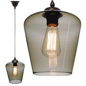 Sorento Glass Pendant  60W Smoke Fume / Antique Bronze