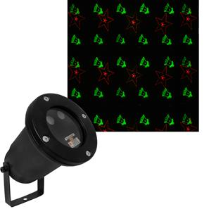 X Firefly Laser Garden 6 Pattern Effect Spike Light Green and Red 240V