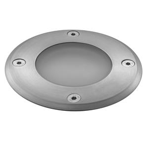Recessed Uplight 240V Steel / Frosted 50W