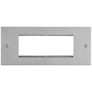 Euro Plate 5 Gang Euro Plate Satin Stainless Steel