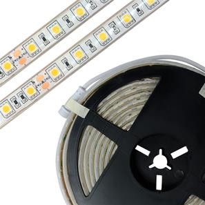 LED Tape Ultra Waterproof IP68 5m (60xSMD 5050 LEDs/m) 24V 72W (1m=14.4W) Cool White 4000K