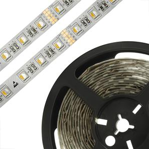 LED Tape RGB + Warm White 5m (60xSMD 5050 LEDs/m) 24V 96W (1m=19.2W) RGB / 2700K Warm White