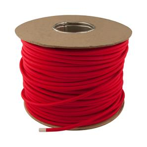 Braided Cloth Round Flex 3 Core Cable 100M 0.75mm² Poppy Red