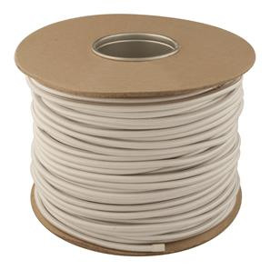 Braided Cloth Round Flex 3 Core Cable 100M 0.75mm² Silver