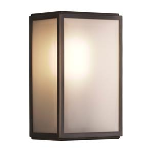 Homefield Frosted Glass Sensor Controlled Wall Light 240V (7883) 60W Bronze