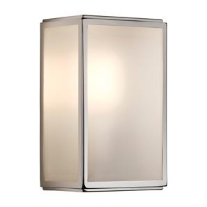 Homefield Frosted Glass Sensor Controlled Wall Light 240V (7857) 60W Polished Nickel