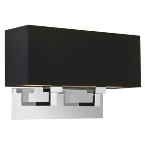 Park Lane Grande Twin 240V 2 x 60W Polished Nickel