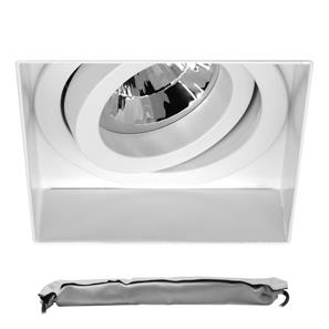 Trimless Square Adjustable Downlight LED GU10 Emergency Kit White 9W