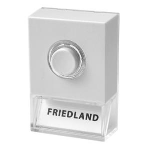 Wired Bell Push and Nameplate White