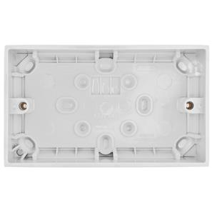 Double Plate Back Box Plastic 35mm