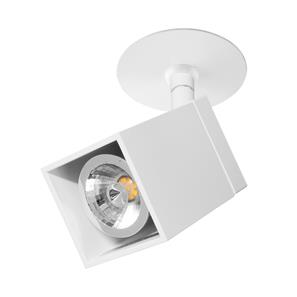 Recessed White Short Cube Spotlight  35W White