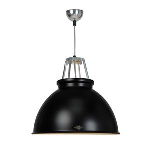Titan Size 3 Pendant Light, by Original BTC Black / White 150W