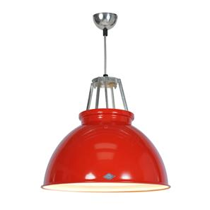 Titan Size 3 Pendant Light Red / White 150W