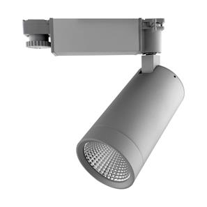 Tube Integrated LED Track Light 3 Circuit 25W 20° Beam Angle Silver 3000K Warm White