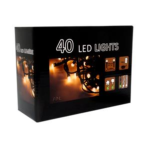 LED String Lights 6m 240V Warm White Black Cable