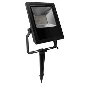 LED Black Floodlight Spike 240V 30W (=300W)  3000K Warm White