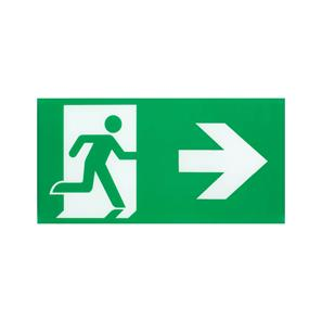 LED Emergency Exit Legend Left/Right Reversible